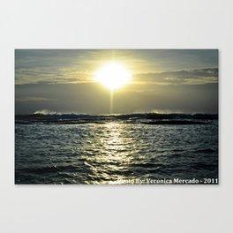 Sun Rise Over the Vast Ocean Canvas Print