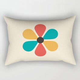 Mid Century Flower Rectangular Pillow