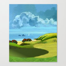 A Hot Day's Boating Canvas Print