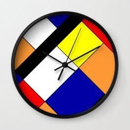 Mondrian #18 Wall Clock