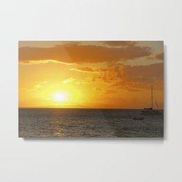 Lahaina Sunset Metal Print
