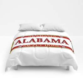 Alabama State Name License Plate Comforters