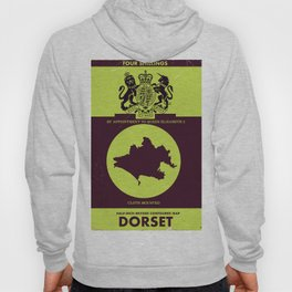 Vintage Dorset map cover. Hoody