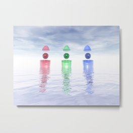 Surreal Glass Structures Metal Print