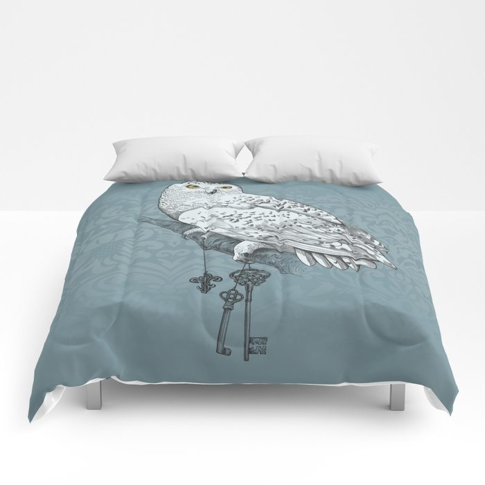 Secrets of the Snowy Owl Comforters