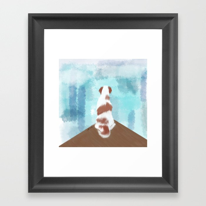 Deschutes The Brittany Spaniel Framed Art Print