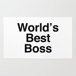 World's Best Boss Rug