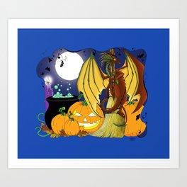 Samhain Dragon Art Print