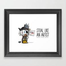 Steal like an artist Framed Art Print