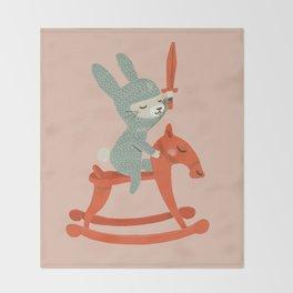Rabbit Knight Throw Blanket