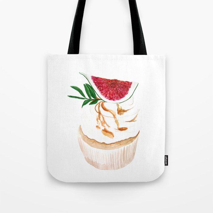 Fig Cupcake Tote Bag