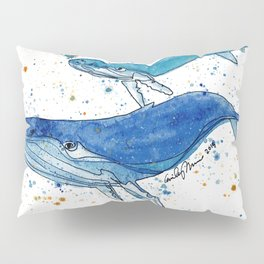 Whale Mommy and Baby Pillow Sham