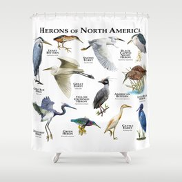Herons of North America Shower Curtain