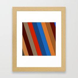 Natural Stripes Framed Art Print