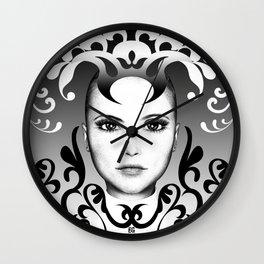 Black and white ornamental joker Wall Clock