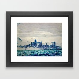 Blue Wave Chicago Framed Art Print