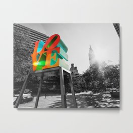 LOVE Park and City Hall - Philadelphia Metal Print