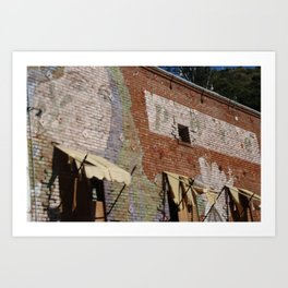 Paint Brick Face Art Print