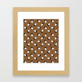 Cascading Coffee Cups Framed Art Print