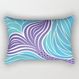 Purple Mermaid's Tail Rectangular Pillow