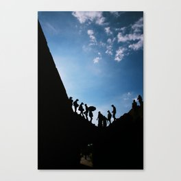 Shadows from the past Canvas Print