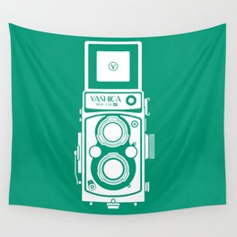 Yashica Mat 124G Camera Emerald Wall Tapestry