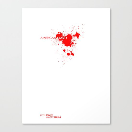 American Beauty movie poster. Canvas Print