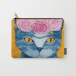 Frida Catlo in Blue Carry-All Pouch