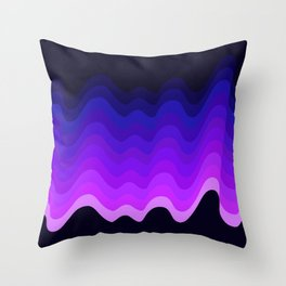 Ultraviolet Retro Ripple Throw Pillow