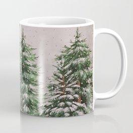 Snowing at Mount Baldy Coffee Mug
