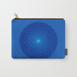 Blue and round Graphic Carry-All Pouch