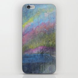 Surprise Valley colorful mixed media abstract landscape iPhone Skin