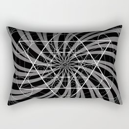 Metatron's Cube Grayscale Spiral of Light Rectangular Pillow