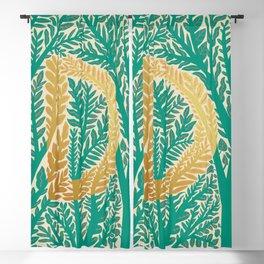 Botanical Metallic Monogram - Letter D Blackout Curtain