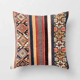 Salé  Antique Morocco North African Flatweave Rug Print Throw Pillow