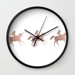 Rose gold unicorn Wall Clock