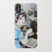 jane austen iPhone & iPod Cases featuring Jane Austen by Makissima