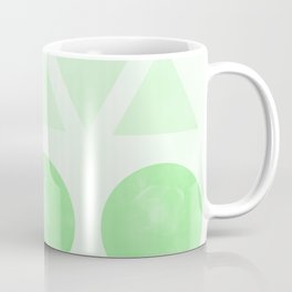 Green Shapes Coffee Mug