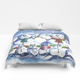 It's Snowing Cats and Dogs (and Mice too) Comforters