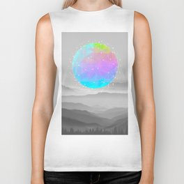 Worlds That Never Were (Geodesic Moon) Biker Tank