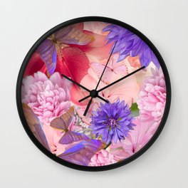 My Day In Fantasy Garden - #society6 #buyart Wall Clock