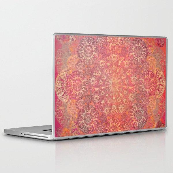 """Coral & Rosewood Mandala (pattern)"" Laptop & iPad Skin"