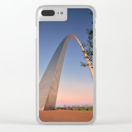 Gateway Arch at sunset in St. Louis. Clear iPhone Case