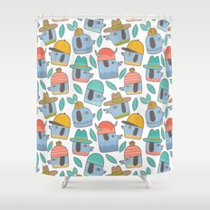 Pattern Project #38 / Dogs With Hats Shower Curtain