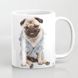 Helmut the Pug - Jean Jacket Coffee Mug