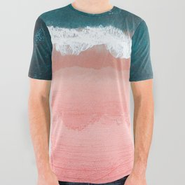 Turquoise Sea Pastel Beach III All Over Graphic Tee