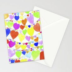 garlands of hearts  Stationery Cards