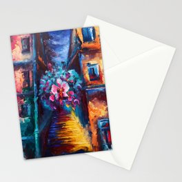 """""""Orchid"""" Painting Stationery Cards"""