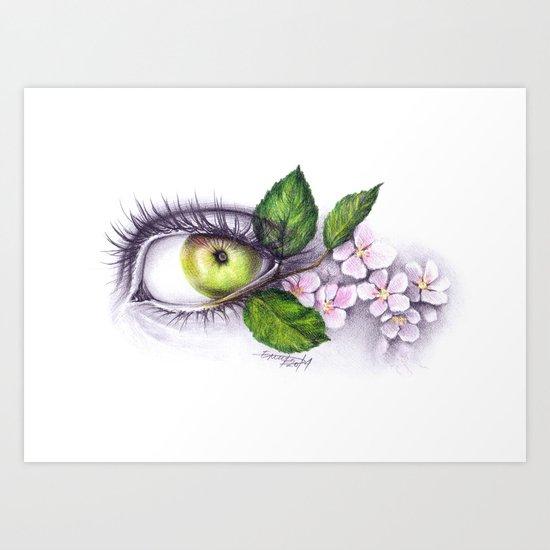 Apple of my eye Art Print