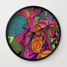 A Vases and Flowers Wall Clock